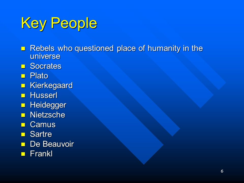 Key People Rebels who questioned place of humanity in the universe