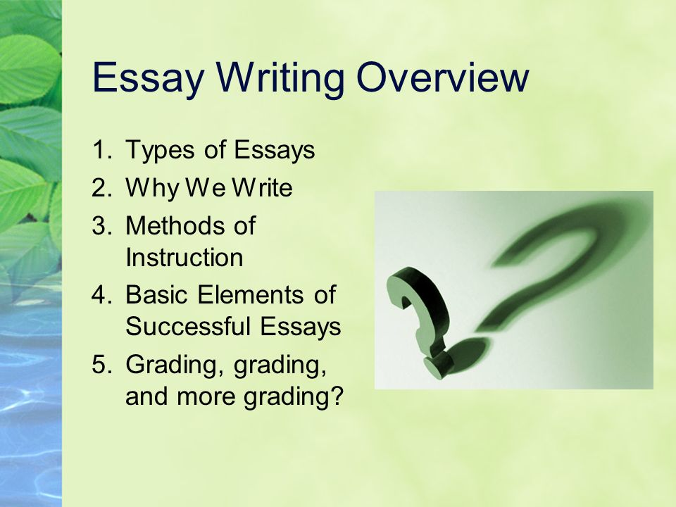 4 general kinds of essay Help your student understand different types of essays and learn the four major types of essays required for school success.