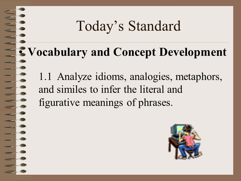 Today's Standard Vocabulary and Concept Development