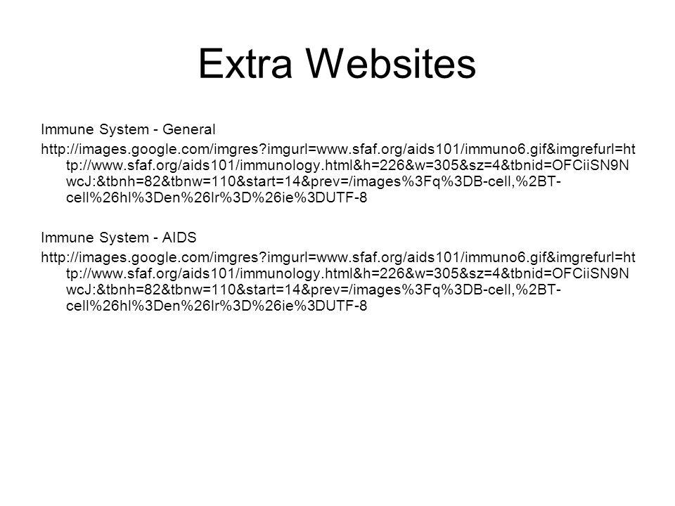 Extra Websites Immune System - General