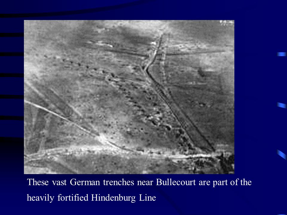 These vast German trenches near Bullecourt are part of the