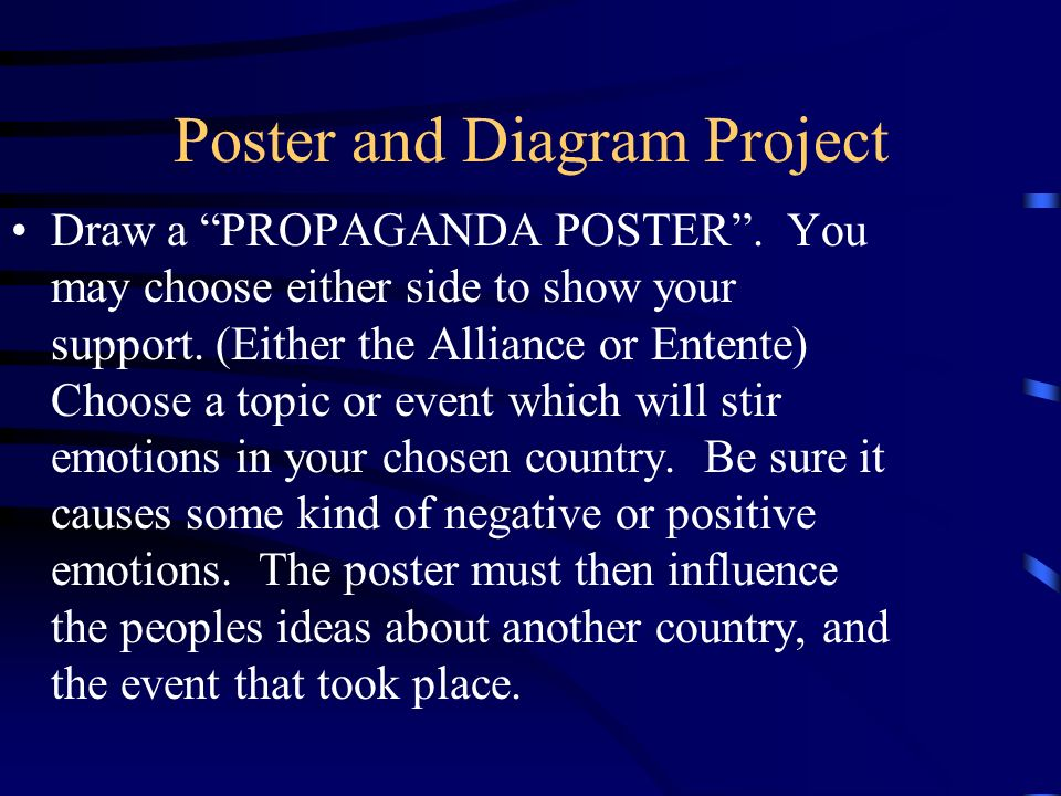 Poster and Diagram Project