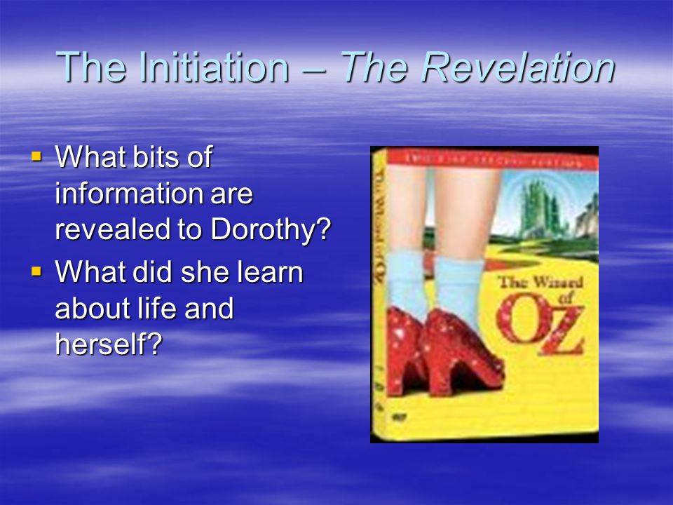 The Initiation – The Revelation