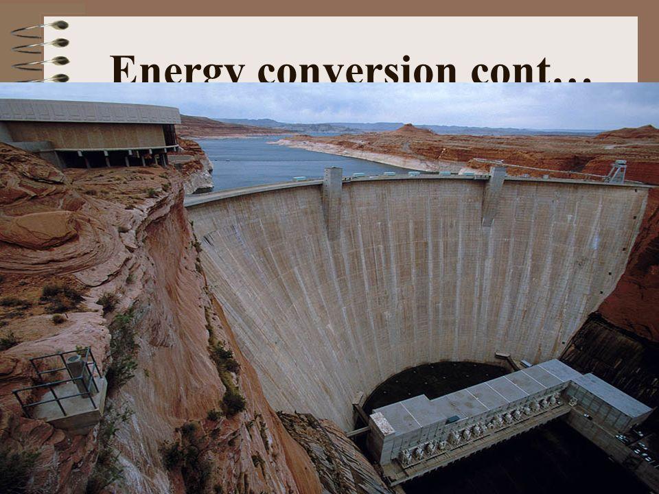 Energy conversion cont…