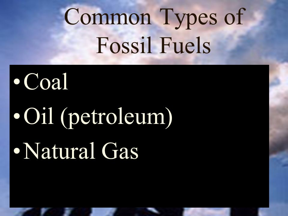 Common Types of Fossil Fuels