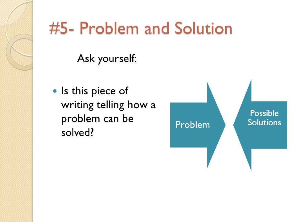 #5- Problem and Solution
