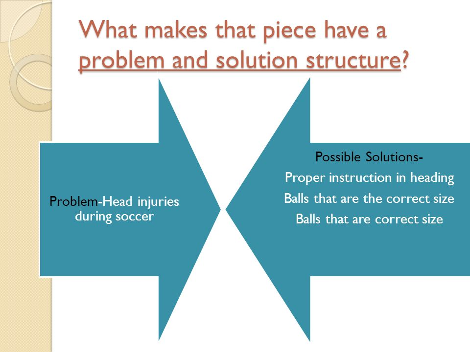 What makes that piece have a problem and solution structure