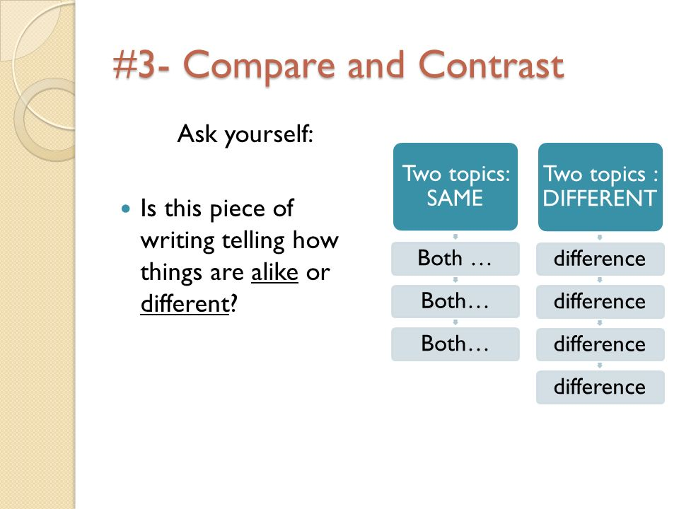 #3- Compare and Contrast