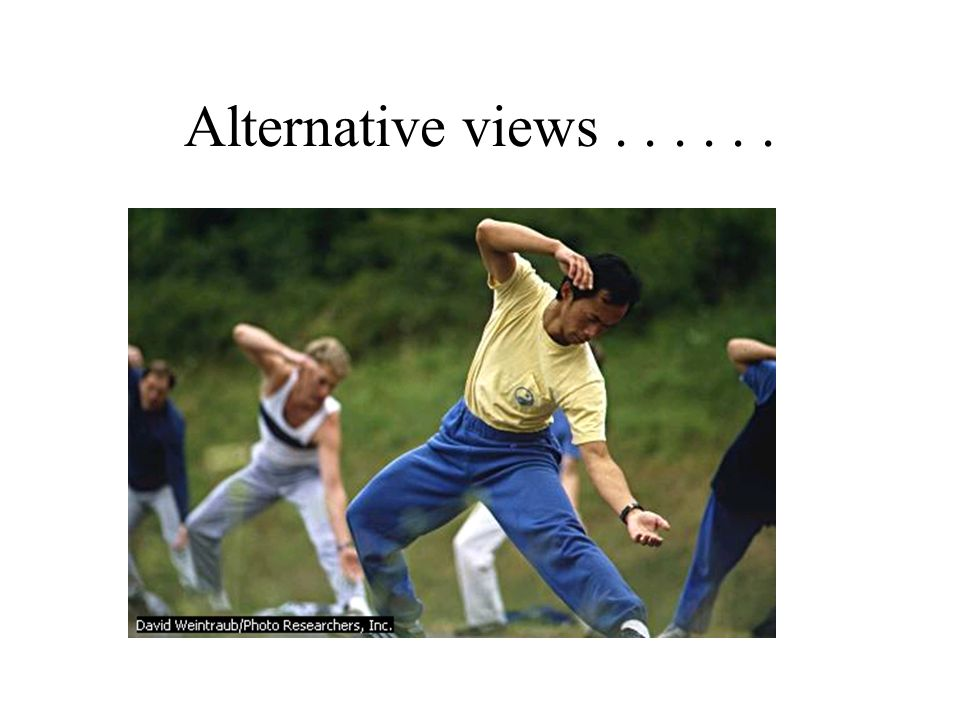 Alternative views . . . . . .