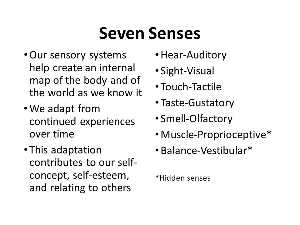 Caring For Children With Sensory Issues May 13, Ppt Video