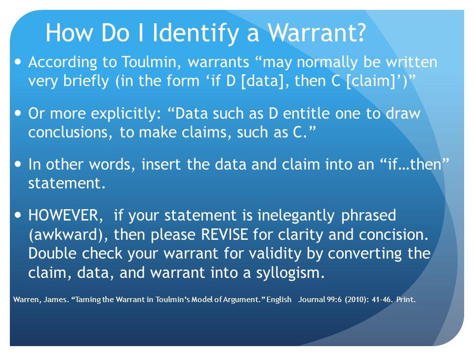 How Do I Identify a Warrant