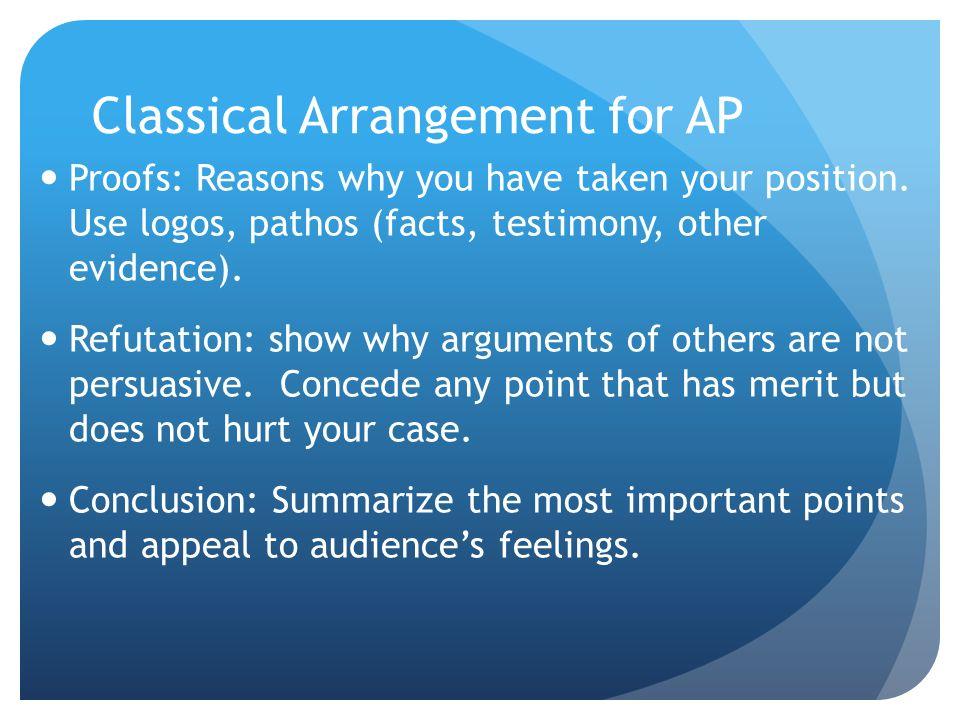Classical Arrangement for AP