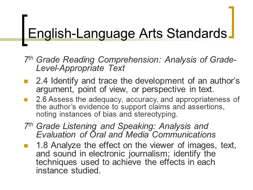 English-Language Arts Standards