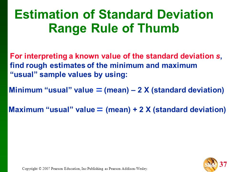 Estimation of Standard Deviation