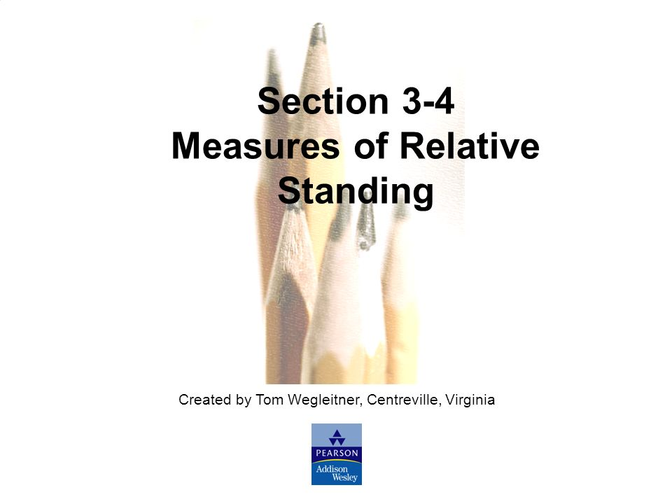 Measures of Relative Standing