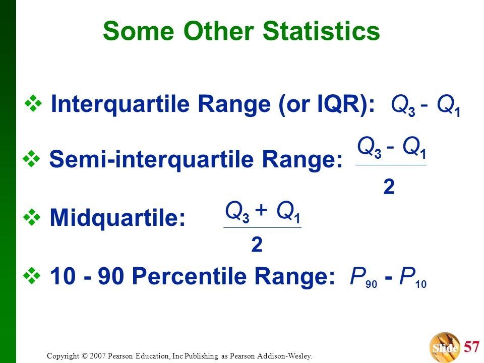 Semi-interquartile Range: