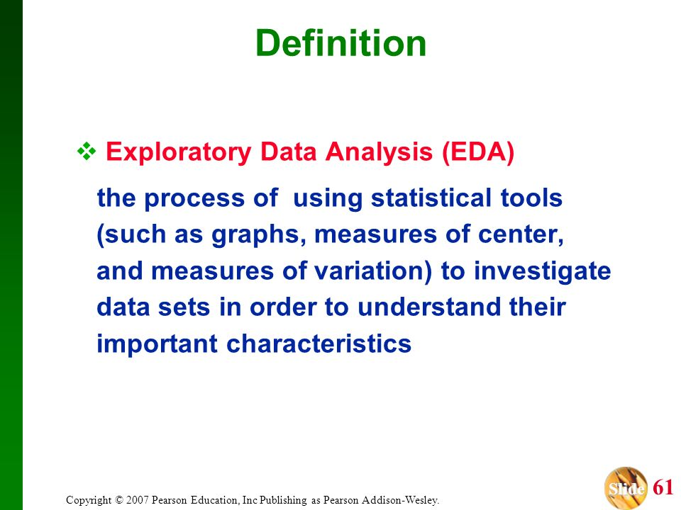Definition Exploratory Data Analysis (EDA)