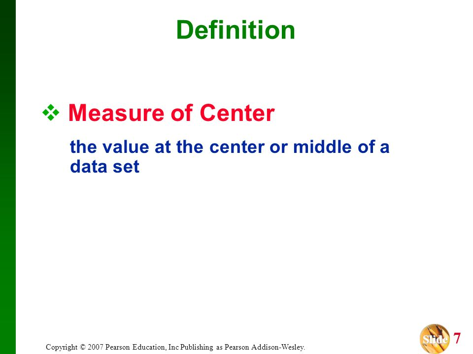 Definition Measure of Center