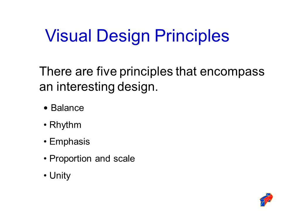 Visual Design Principles and Elements
