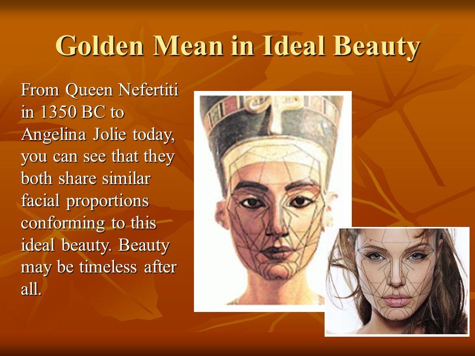 Golden Mean in Ideal Beauty