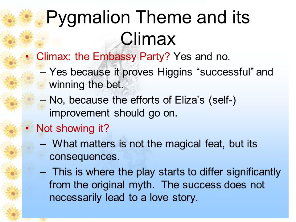 pygmalion eliza and higgins relationship trust