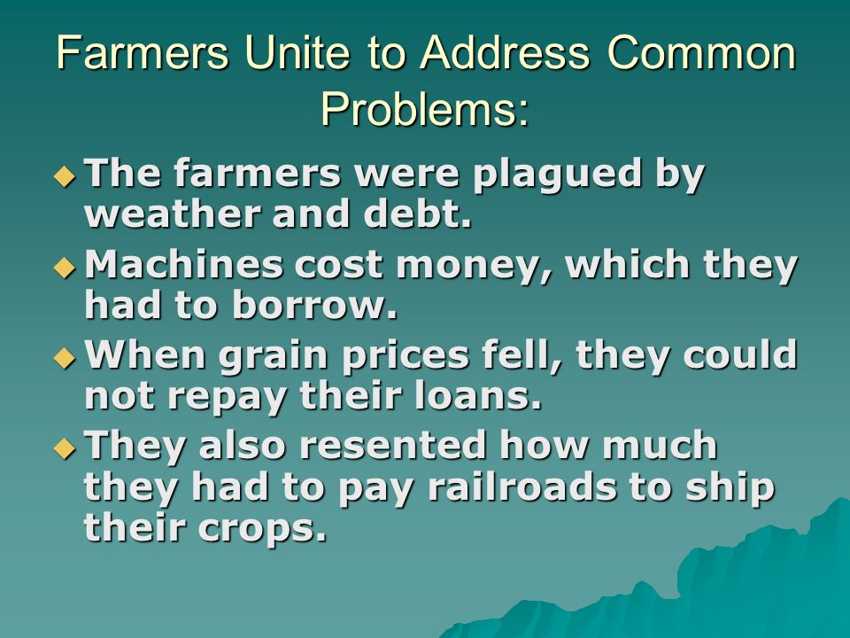 Farmers Unite to Address Common Problems: