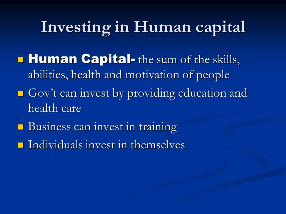 What is the relationship between human capital and economic growth?
