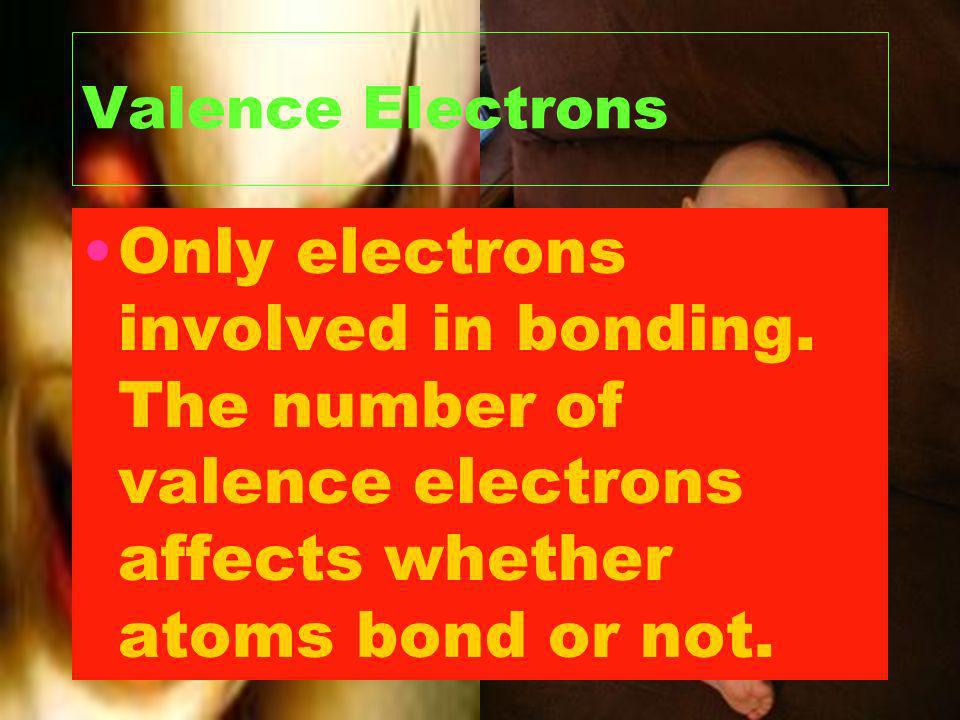 Valence Electrons Only electrons involved in bonding.