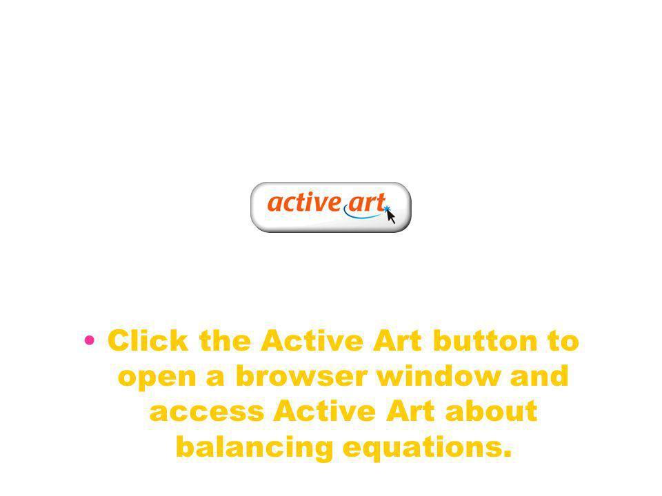 Balancing Equations Activity