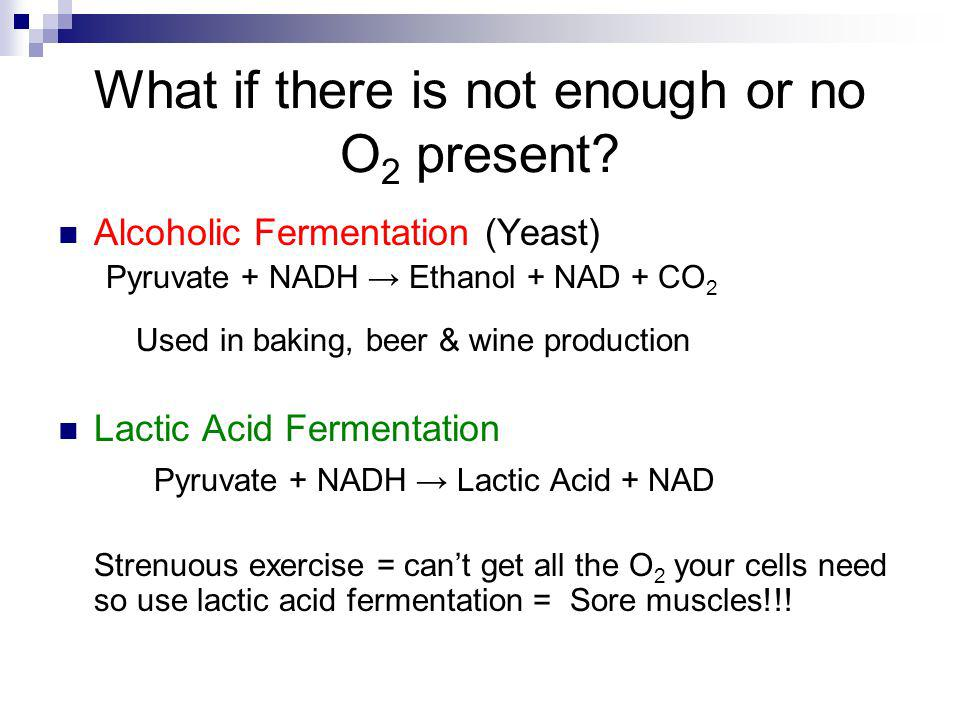 What if there is not enough or no O2 present