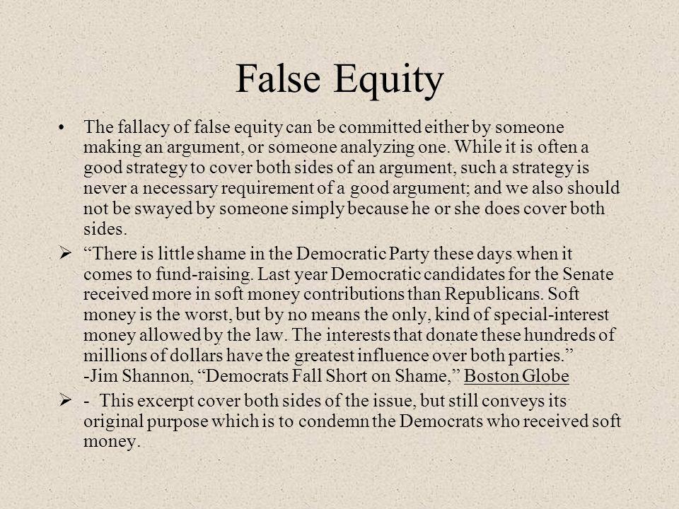 False Equity