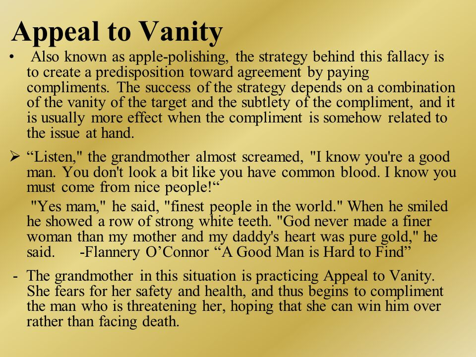 Appeal to Vanity