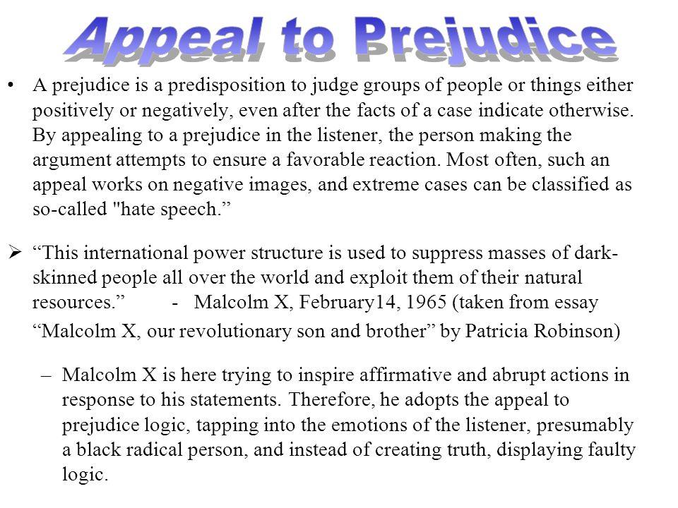 Appeal to Prejudice
