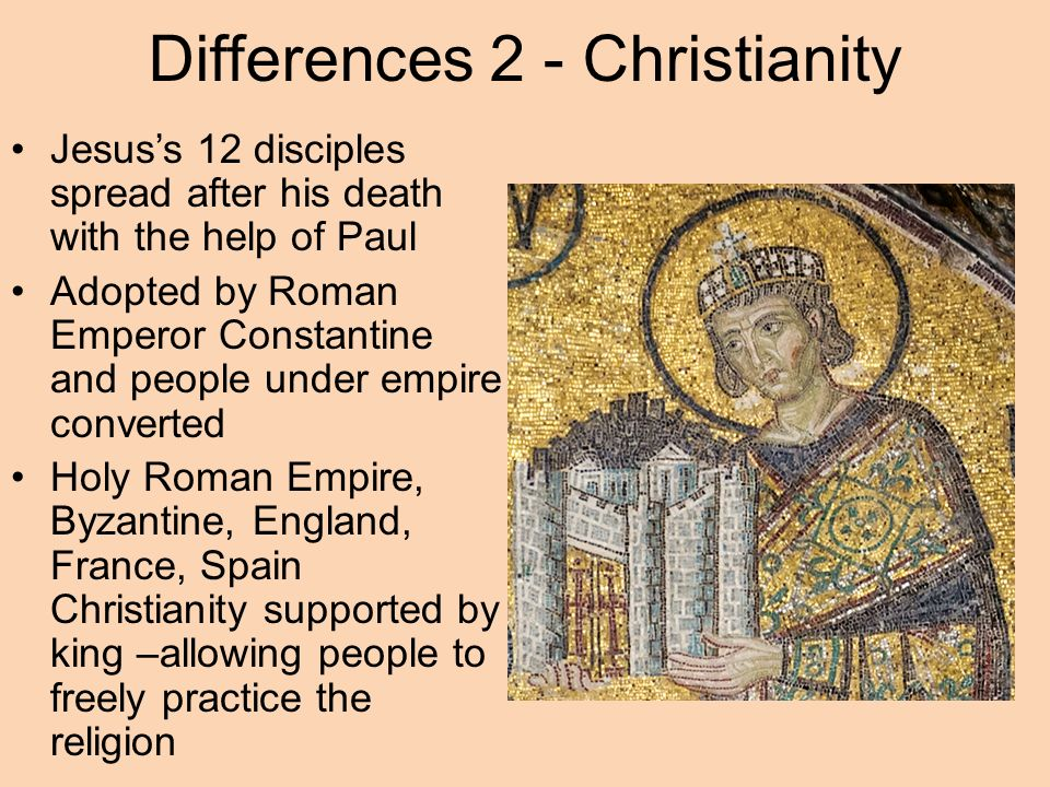 comparative essay diffusion of buddhism christianity and islam  5 differences 2 christianity