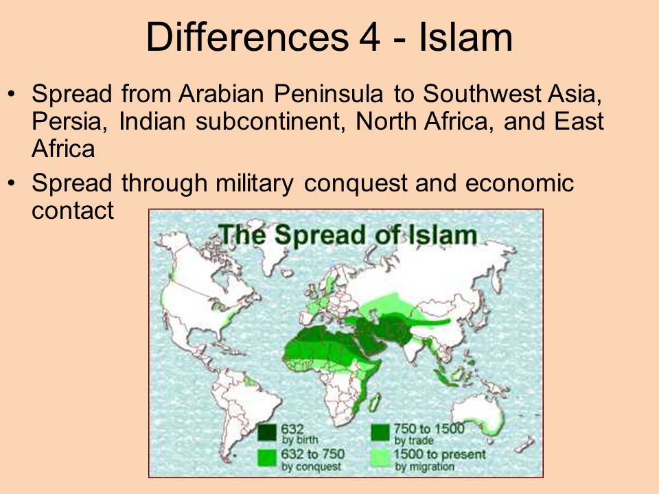 comparative essay diffusion of buddhism christianity and islam  differences 4 islam sp from arabian peninsula to southwest asia persia n subcontinent