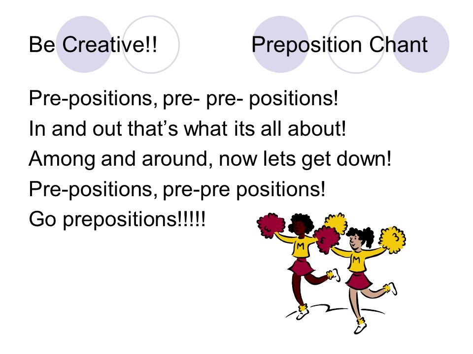 Be Creative!! Preposition Chant