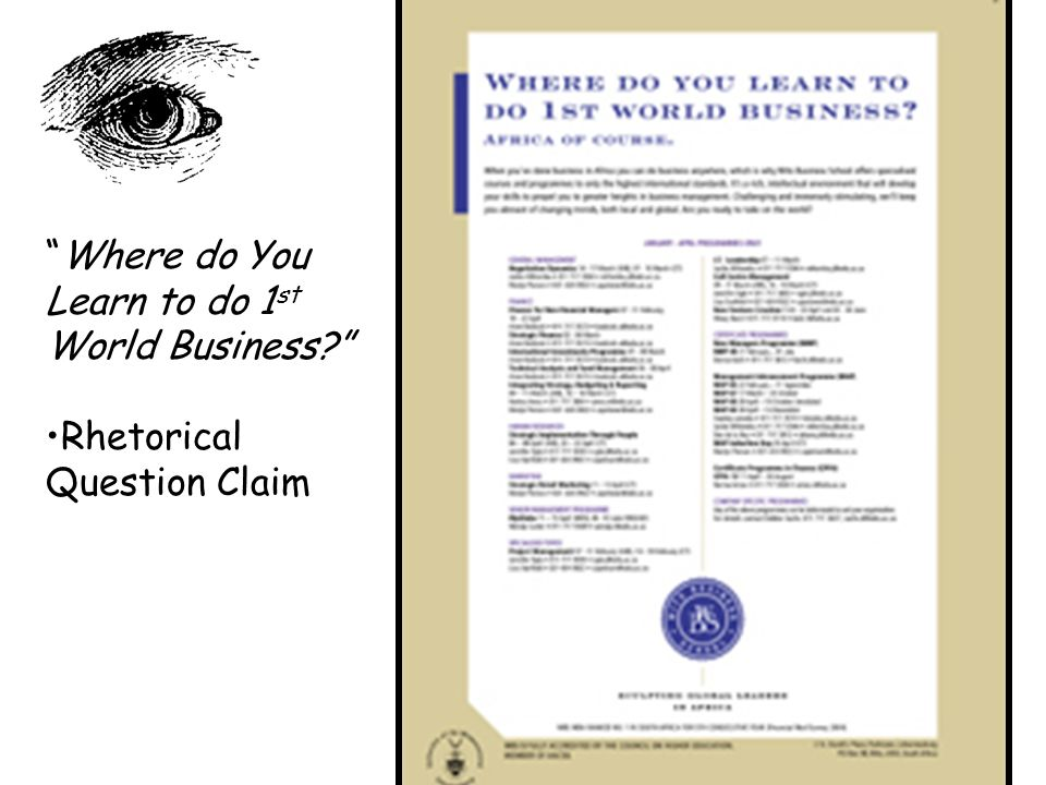Where do You Learn to do 1st World Business