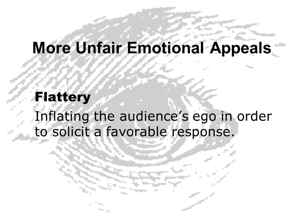 More Unfair Emotional Appeals