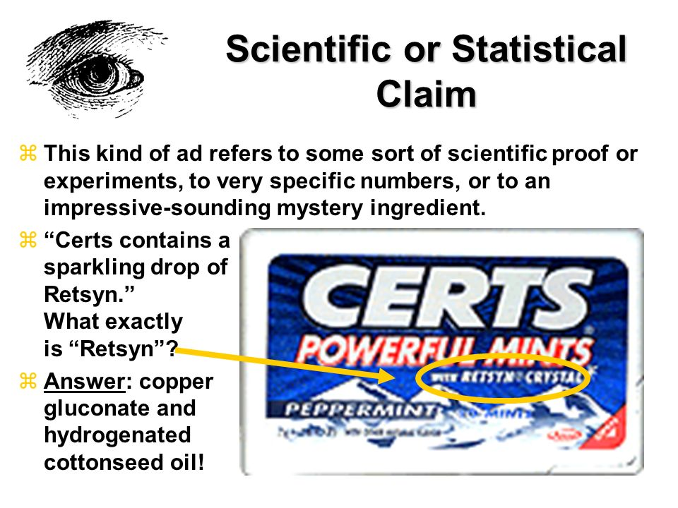 Scientific or Statistical Claim