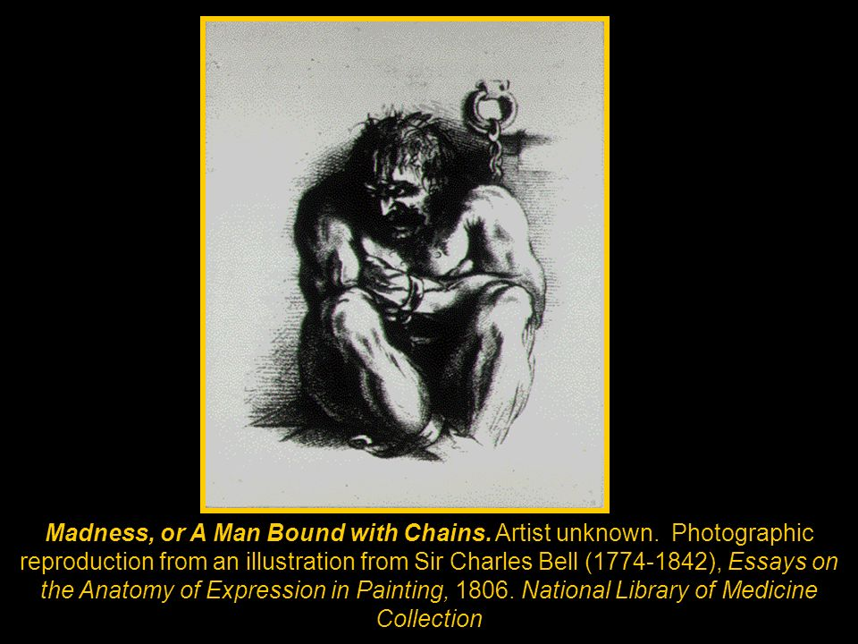 Madness, or A Man Bound with Chains. Artist unknown