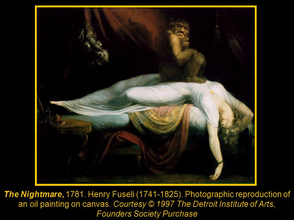 The Nightmare, 1781. Henry Fuseli (1741-1825)