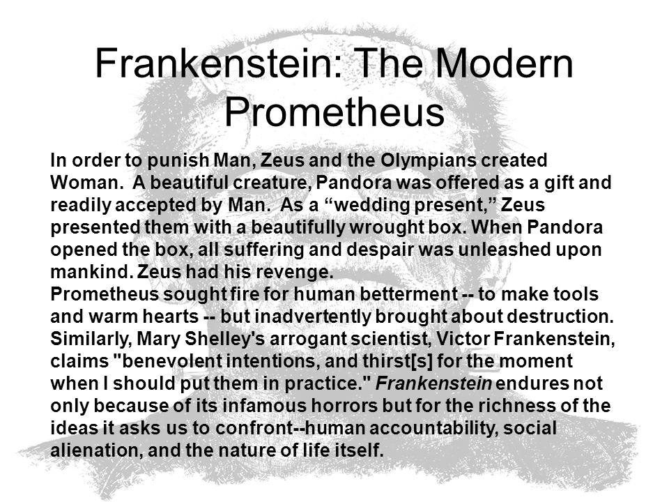 Frankenstein: The Modern Prometheus
