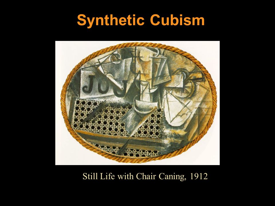 Synthetic Cubism Still Life with Chair Caning, 1912