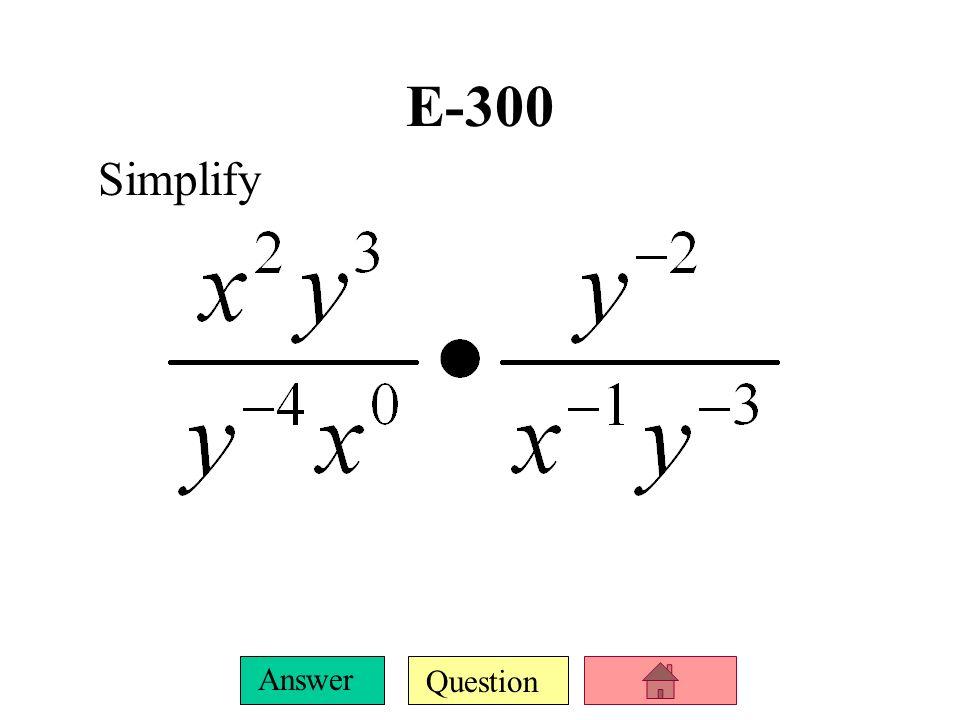 E-300 Simplify