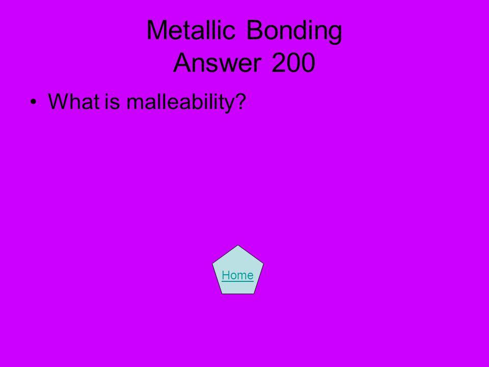 Metallic Bonding Answer 200
