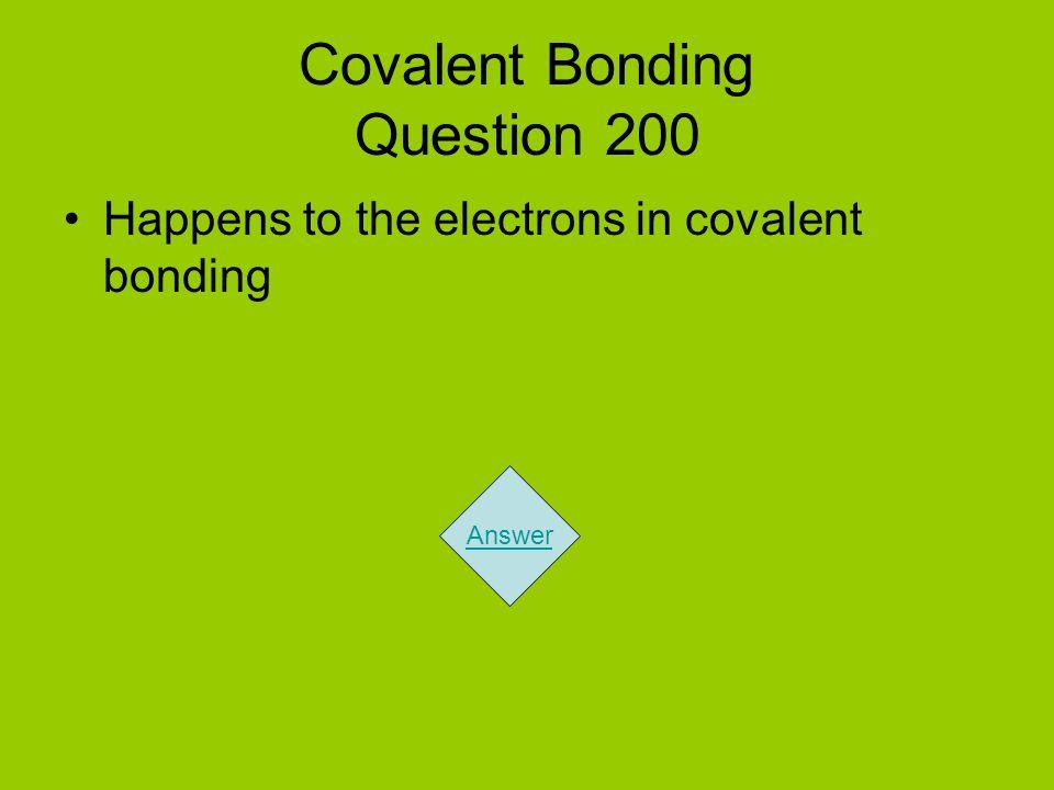Covalent Bonding Question 200