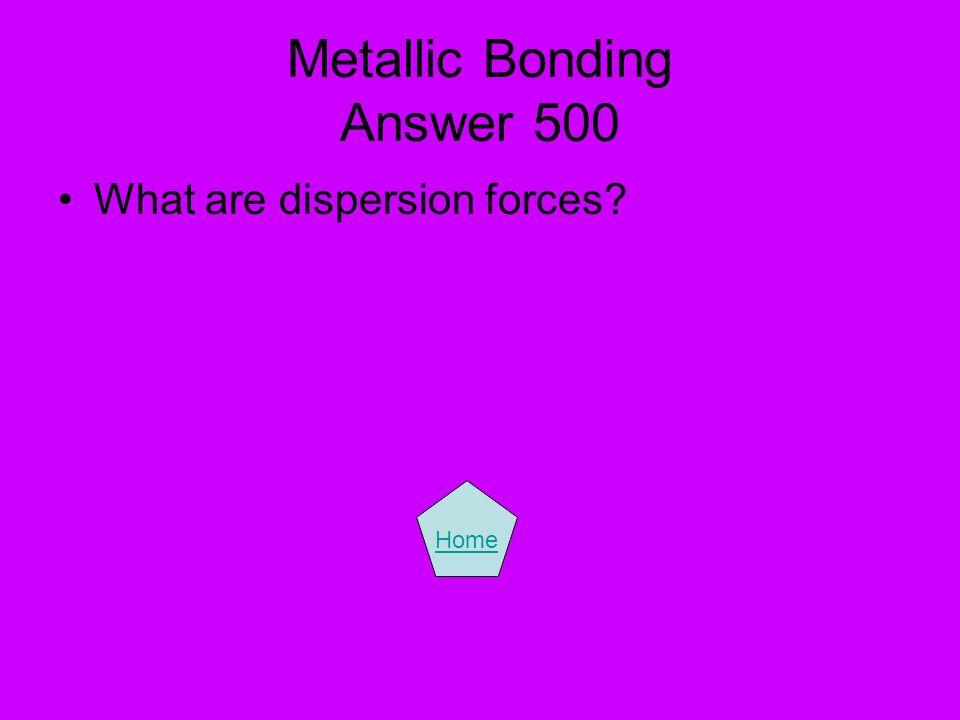 Metallic Bonding Answer 500
