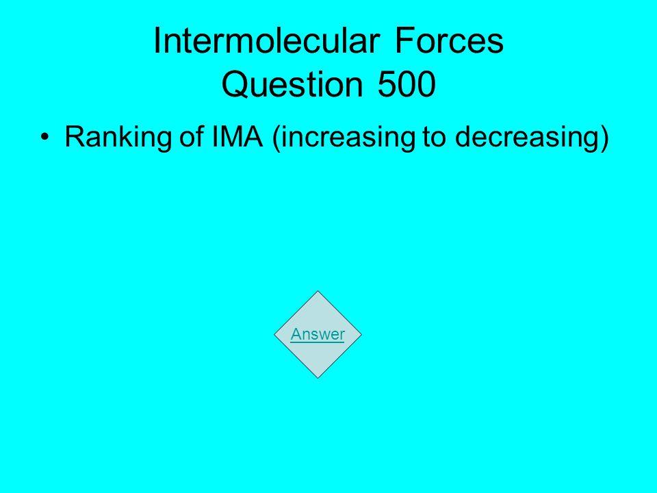 Intermolecular Forces Question 500