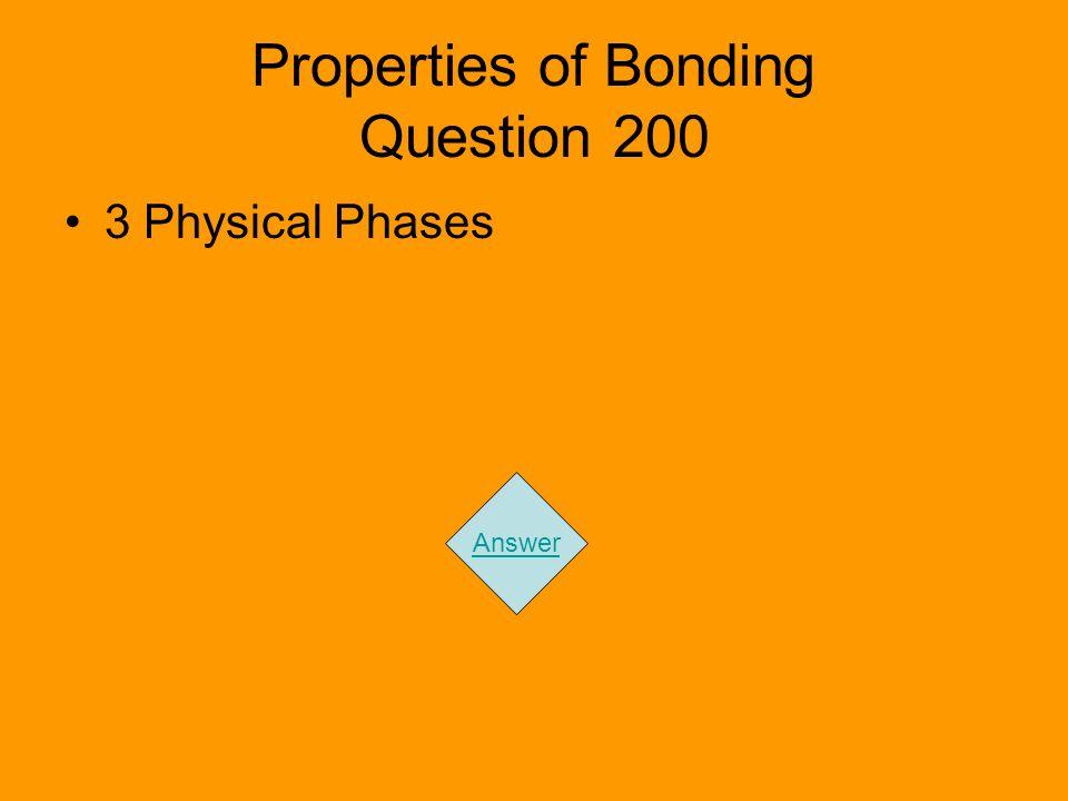 Properties of Bonding Question 200