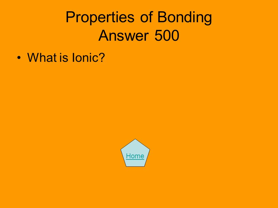 Properties of Bonding Answer 500